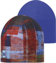 Шапка BUFF COOLMAX REVERSIBLE HAT kan multi-blue ink