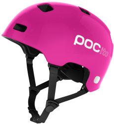 Велосипедный шлем POC POCito CRANE fluorescent pink