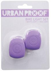 Мигалки передняя + задняя Urban Proof SILICON pastel violet
