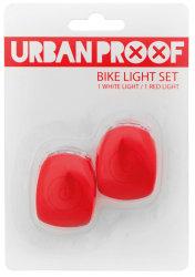 Мигалки передняя + задняя Urban Proof SILICON red