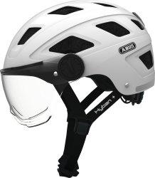 Велосипедный шлем Abus HYBAN+ clear visor white cream