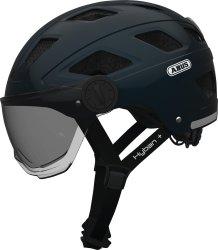 Велосипедный шлем Abus HYBAN+ smoke visor midnight blue