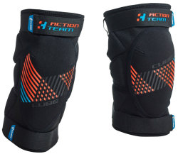 Наколенники Cube ACTION TEAM CMPT black-blue-flashred