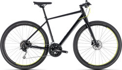 Велосипед Cube HYDE black-yellow
