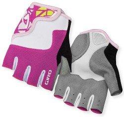 Велосипедные детские перчатки Giro BRAVO JR pink-white