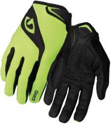 Велосипедные перчатки Giro BRAVO LF yellow-black