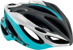 Велосипедный шлем MET INFERNO UL black-white-cyan