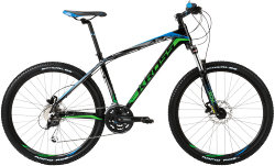 Велосипед Kross LEVEL A3 26 black-green-blue