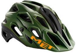 Велосипедный шлем MET LUPO military-green-orange