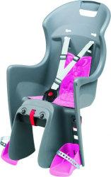 Детское велокресло Polisport BOODIE CFS dark grey-pink