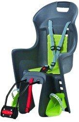 Детское велокресло Polisport BOODIE FF grey/green