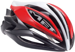 Велосипедный шлем MET SINE THESIS red-white-black