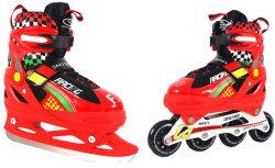Роликовые коньки + коньки 2 в 1 SMJ-Sport ROL188