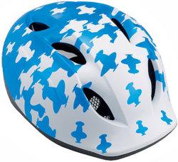 Велосипедный шлем MET SUPER BUDDY white-blue airplanes