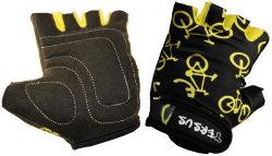 Велосипедные детские перчатки Tersus KIDS BIKE black/yellow