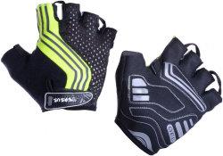 Велосипедные перчатки Tersus JIM black-neon-yellow