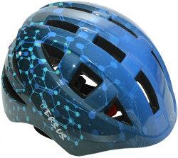 Велосипедный шлем Tersus JOCKEY blue atoms