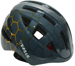Велосипедный шлем Tersus JOCKEY hexagons black orange