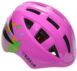 Велосипедный шлем Tersus JOCKEY pink abstract