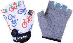 Велосипедные детские перчатки Tersus KIDS BIKE white-mix