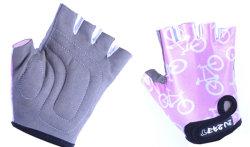 Велосипедные детские перчатки Tersus KIDS BIKE pink-white