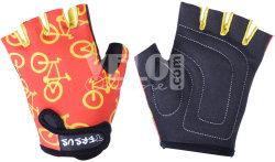 Велосипедные детские перчатки Tersus KIDS BIKE red-yellow