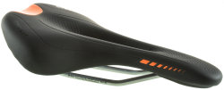 Велосипедное седло Tersus FRIGATE black-neon orange