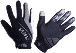 Велосипедные перчатки Tersus NIL LF black-grey