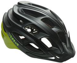 Велосипедный шлем Tersus RACE matt black-azure-lime