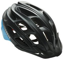 Велосипедный шлем Tersus RACE matt black-azure-coral