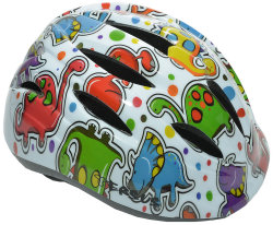 Велосипедный шлем Tersus RIDER white dino