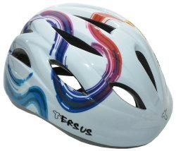 Велосипедный шлем Tersus RIDER white rainbow