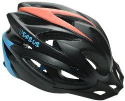 Велосипедный шлем Tersus ROCKET matt black-azure-coral