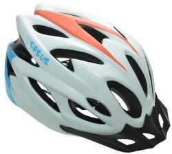 Велосипедный шлем Tersus ROCKET matt white-azure-coral