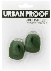 Мигалки передняя + задняя Urban Proof SILICON army green
