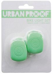 Мигалки передняя + задняя Urban Proof SILICON pastel green