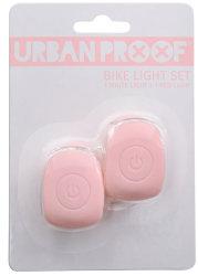 Мигалки передняя + задняя Urban Proof SILICON pastel pink