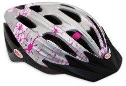 Велосипедный шлем Bell COGNITO FS silver-pink-flowers