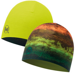 Шапка BUFF COOLMAX REVERSIBLE HAT mot multi-yellow fluor