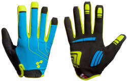 Велосипедные перчатки Cube NATURAL FIT LONG FINGER blue-lime-black