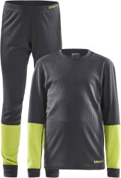 Комплект термобелья Craft Baselayer Set Junior asphalt/acid