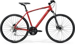 Велосипед Merida Crossway 20-D 28 matt x'mas red (black/dark red)