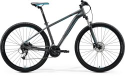 Велосипед Merida Big Nine 40 matt dark silver (blue/blk)