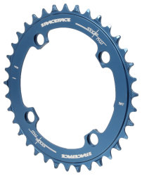 Звезда RaceFace Chainring Narrow Wide, 104, blu