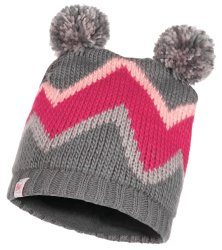 Шапка с помпоном Buff Child Knitted & Polar Hat Arild grey