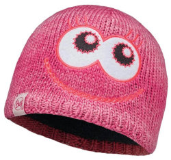 Шапка с помпоном Buff Child Knitted & Polar Hat Monster merry pink