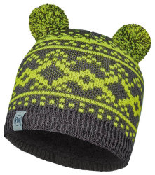 Шапка с помпоном Buff Child Knitted & Polar Hat Novy grey castlerock