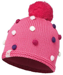 Шапка с помпоном Buff Child Knitted & Polar Hat Odell ibis rose