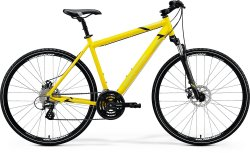 "Велосипед Merida Crossway 15-MD 28"" silk bright yellow (black)"