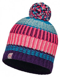 Шапка с помпоном Buff Junior Knitted & Polar Hat Hops plum